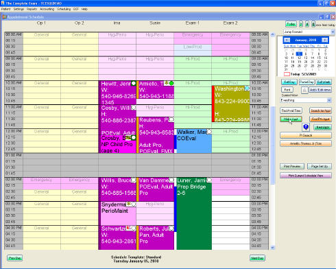 tce administrative functions electronic appointment book